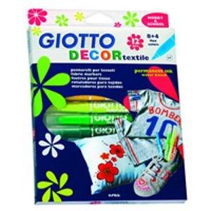 Markery na textil GIOTTO DECOR textile / 12 barev