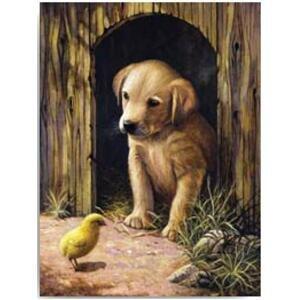 Kreativní set na malování - Štěňátko labradora  (sada na malování podle)