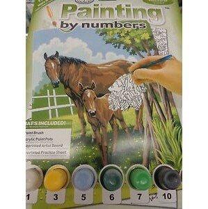 Kreatívní set na malováni - Kůň a hříbě  (sada na malování podle čísel)