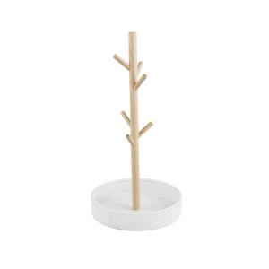 PRESENT TIME Dřevěný stojan na šperky s bílým podstavcem Merge
