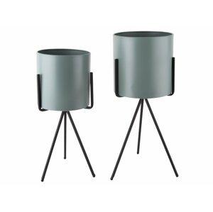 PRESENT TIME Stojan na květináč Pedestal XL – zelená /set 2 ks