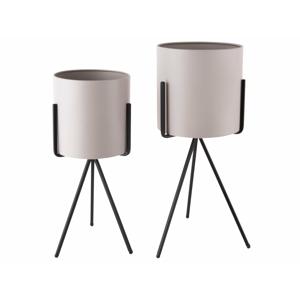 PRESENT TIME Stojan na květináč Pedestal XL – šedá /set 2 ks