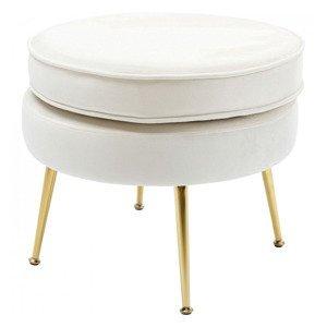 KARE DESIGN Bílá čalouněná stolička Water Lily