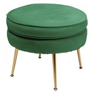 KARE DESIGN Zelená čalouněná stolička Water Lily