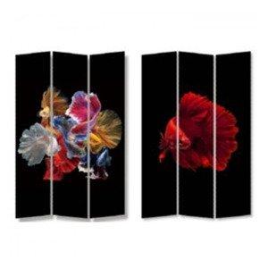KARE DESIGN Paravan Colorful Fish vs Fire Fish 180 × 120 cm