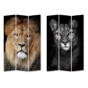 KARE DESIGN Paravan King Lion vs Cat Girl 180 × 120 cm