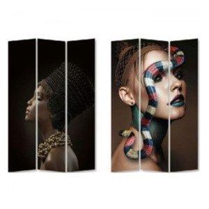 KARE DESIGN Paravan Royal Headdress vs Snake Girl 180 × 120 cm