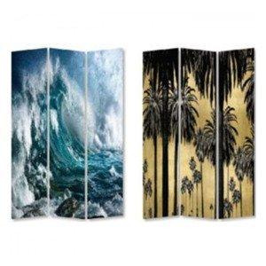 KARE DESIGN Paravan Triptychon Wave vs Palms 180 × 120 cm