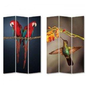 KARE DESIGN Paravan Twin Parrot vs Cute Colibri 180 × 120 cm
