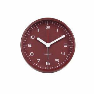 KARLSSON Budík Rounded Numbers – červený – 2. jakost