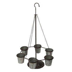 Kovový stojan / závěs s květináčky - 56*50*90 cm