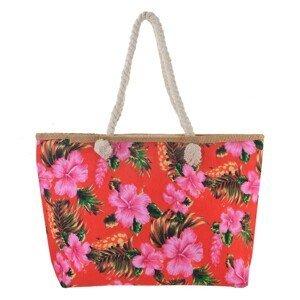 Červená nákupní/plážová taška Hawai - 55*33*13 cm