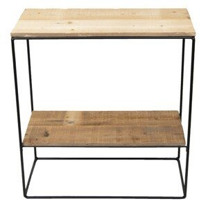 Nástěnná police Ela z recyklovaného dřeva - 60*25*66 cm