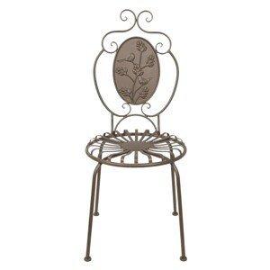 Hnědá kovová zahradní židle Browny - 45*44*102 cm