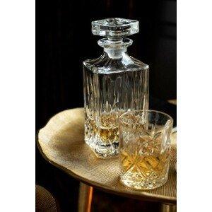 Trasparentní láhev z broušeného skla - 9*9*22 cm
