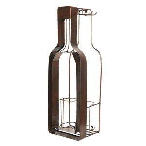 Držák na víno ve tvaru lahve - 20*17*63 cm