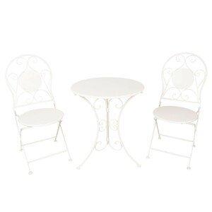 3dílný set zahradního skládacího nábytku Axelle - Ø 60*70 / 2x Ø 40*40*92 cm