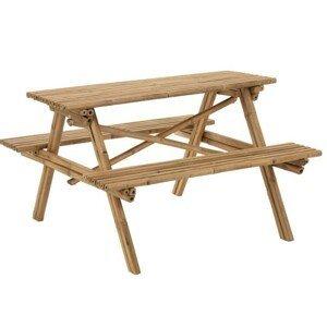 Venkovní  bambusový set lavice a stůl Bambo - 204*20*74 cm