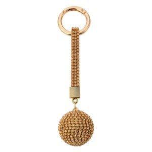 Zlatá klíčenka koule s kamínky Venni  - Ø 3,5*14,5cm