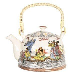 Konvička na čaj s japonskými motivy - 18*14*12 cm / 0,8L