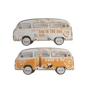 Set 2 nástěnných dřevěných věšáků Minibus - 32,5*75*5 cm