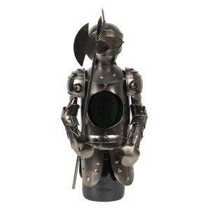 Kovový stojan na víno v designu rytíře Chevalier – 8*10*27 cm