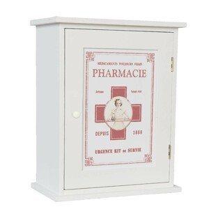 Bílá dřevěná lékárnička - 24*30*13