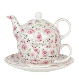 Porcelánová konvička tea for one Des Roses