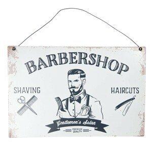 Kovová cedule Barbershop - 30*20 cm