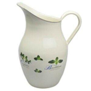 Krémový smaltovaný džbán s bylinkami Herbs - 20*26cm - 2.5L