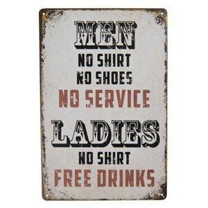 Nástěnná cedule Men & Ladies - 20*30 cm