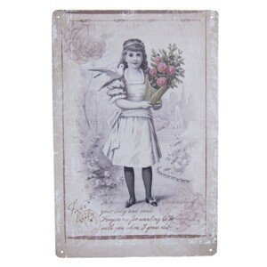 Vintage plechová cedule- 20*30 cm