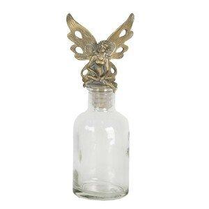 Skleněná láhev se zátkou s andělem - 7*5*17 cm