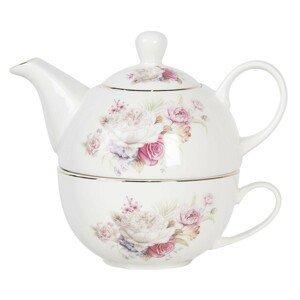 Porcelánový tea for one Friendly Roses - 0,4L