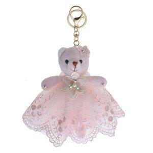 Plyšový medvídek v sukýnce na zavěšení - 15 cm