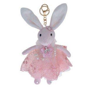Plyšový králíček v sukýnce na zavěšení - 20 cm