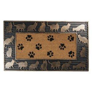 Venkovní rohožka Kočky - 75*45*2 cm