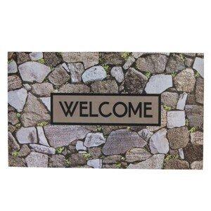 Velká rohožka před dveře s potiskem kamenů Welcome - 75*45 cm
