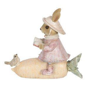 Dekorace králičí slečny na mrkvi - 13*5*11 cm