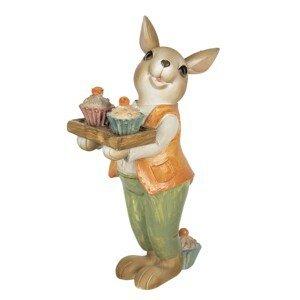 Velikonoční dekorace králíka s muffiny - 11*6*16 cm