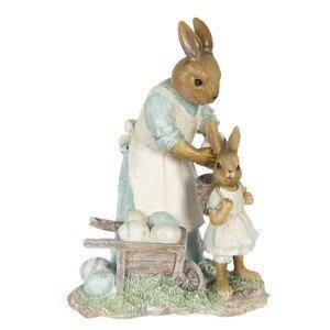 Dekorace králičí maminky nakládající vajíčka - 15*11*20 cm