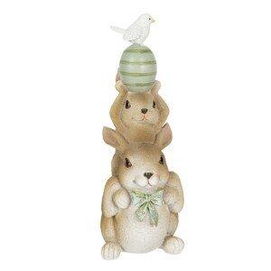 Velikonoční dekorace králíků s vajíčkem nad hlavou - 8*6*17 cm
