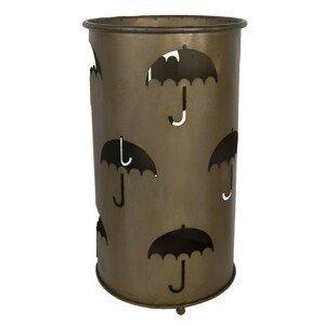 Hnědý kovový stojan na deštník - Ø 26*46 cm