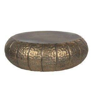 Bronzový dekorační kovový stoleček na květiny Alicce - Ø 37*12 cm