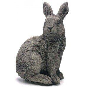 Zahradní betonová dekorace sedící králík - 18*13*30 cm