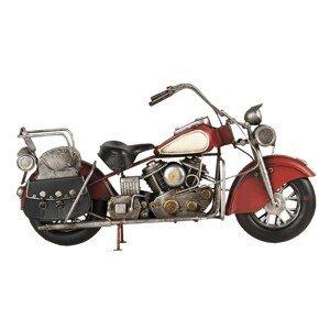 Retro kovový držák na láhev ve tvaru motorky - 41*14*22 cm