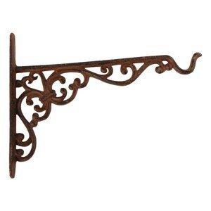 Závěsný litinový hák s ornamenty - 25 *2 * 18cm