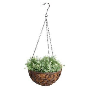 Závěsný litinový květináč / koš - Ø30*15 cm