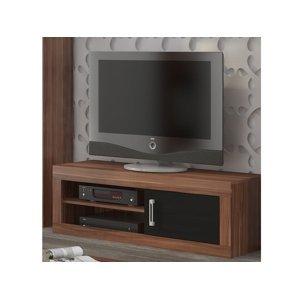 VERIN/21, televizní stolek 1D, švestka wallis/černý lesk
