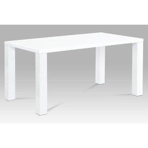 Jídelní stůl AT-3008 WT 160x90 cm, vysoký lesk bílý